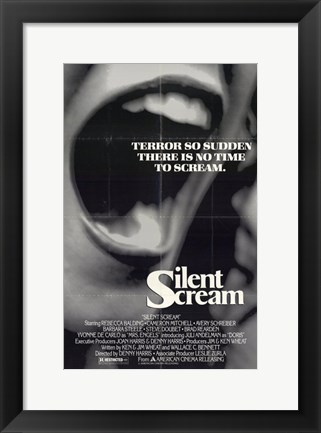 Framed Silent Scream Print
