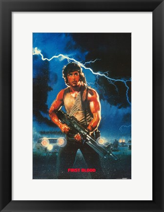 Framed Rambo: First Blood Painting Print