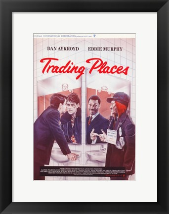 Framed Trading Places Switching Faces Print
