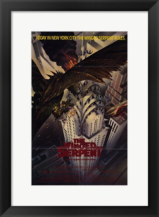 Framed Q (The Winged Serpent) Print