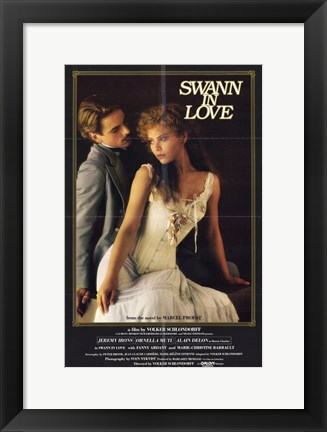 Framed Swann in Love Print