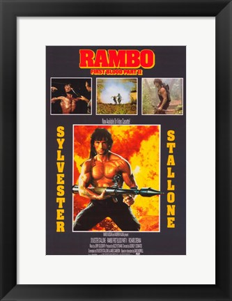 Framed Rambo: First Blood Part 2 Print