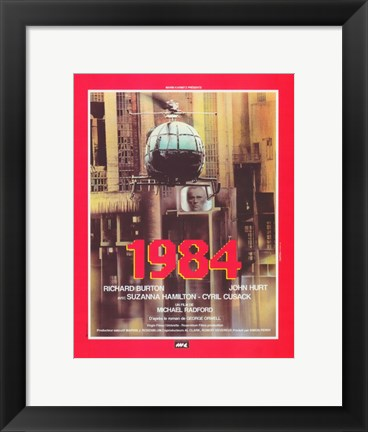 Framed 1984 French In Red Print
