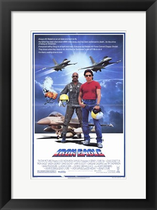 Framed Iron Eagle Print