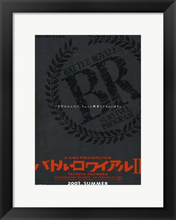 Framed Battle Royale II By Kinji Fukasaku Print