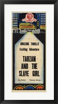 Framed Tarzan and the Slave Girl, c.1950 Print