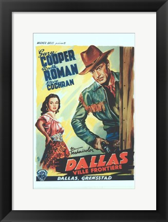 Framed Dallas Print