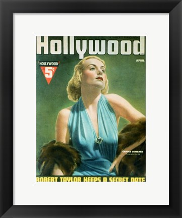 Framed Carole Lombard Hollywood Print