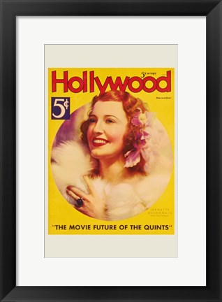 Framed Jeanette MacDonald - Hollywood Print