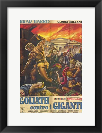 Framed Goliath and the Giants Print