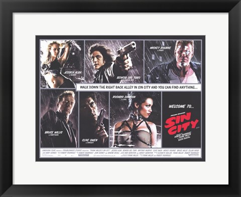 Framed Sin City Comic Strip Print