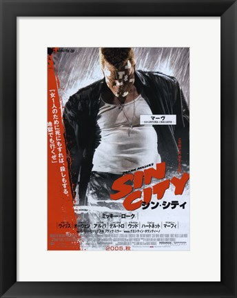 Framed Sin City Marv Chinese Print