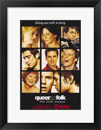Framed Queer As Folk - characters Print