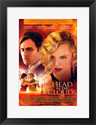 Framed Head in the Clouds Print