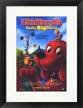 Framed Clifford's Really Big Movie Print