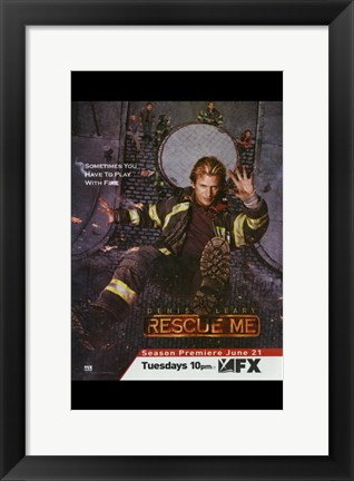 Framed Rescue Me (TV) Play with Fire Print
