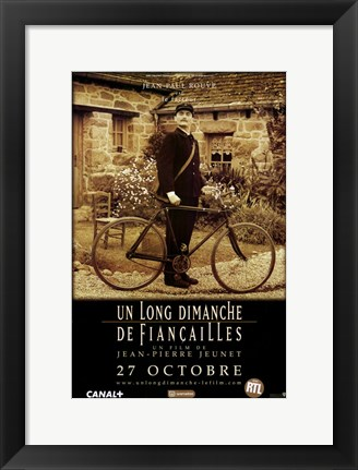 Framed Very Long Engagement Sepia Bicycle Print