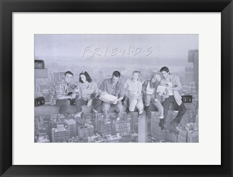 Framed Friends (TV) Black and White Print