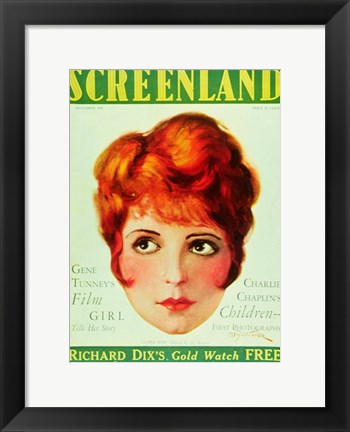 Framed Clara Bow - screenland Print
