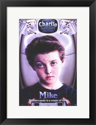 Framed Charlie and the Chocolate Factory Mike Print