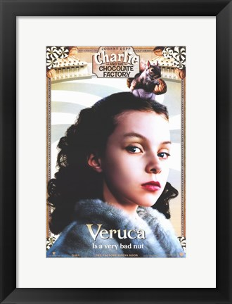 Framed Charlie and the Chocolate Factory Veruca Print