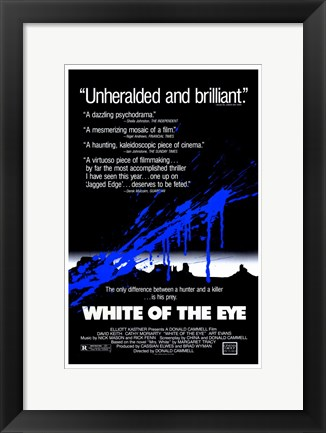 Framed White of the Eye - black Print