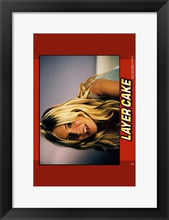 Framed Layer Cake - horizontal (woman) Print