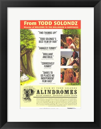 Framed Palindromes Movie Print