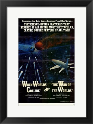 Framed When Worlds Collide / War of the Worlds Combo Print