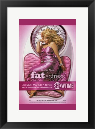 Framed Fat Actress Print