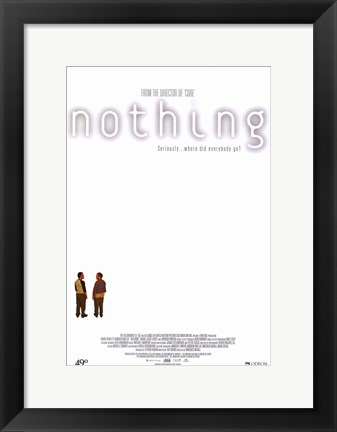 Framed Nothing Print