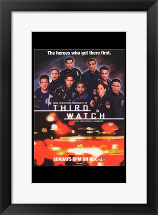 Framed Third Watch - officers Print