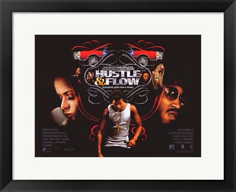 Framed Hustle and Flow Print