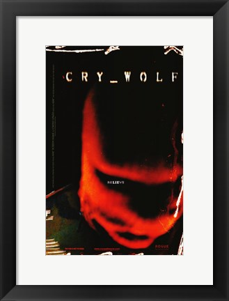 Framed Cry Wolf Print