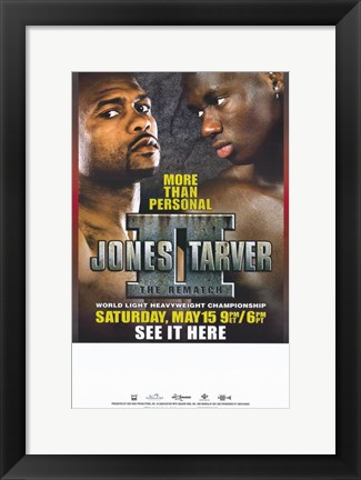 Framed Roy Jones Jr. vs Antonio Tarver: The Rematch Print