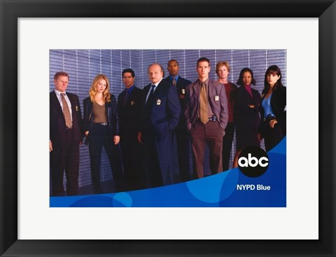 Framed NYPD Blue Print