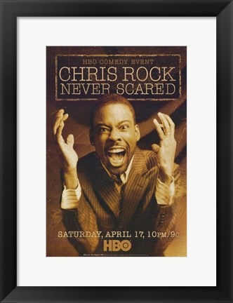 Framed Chris Rock: Never Scared Print