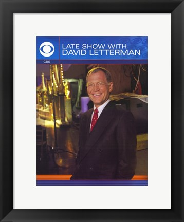 Framed Late Show with David Letterman Print