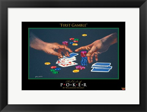 Framed World Series of Poker First Gamble Print
