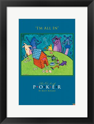 Framed World Series of Poker I'm All In Animals Print