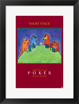 Framed World Series of Poker Short Stack Animals Print