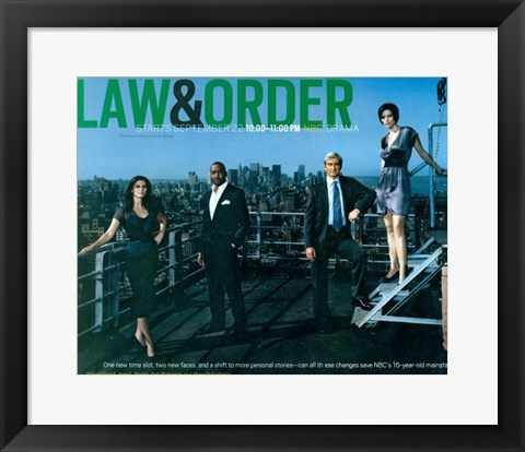 Framed Law & Order Print