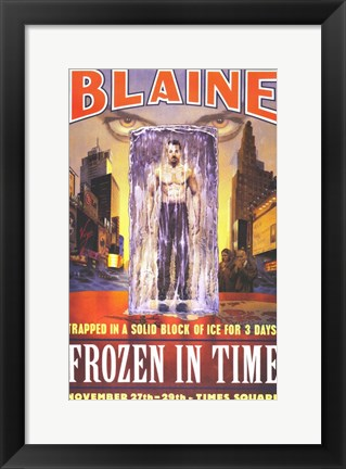 Framed David Blaine: Frozen in Time Print