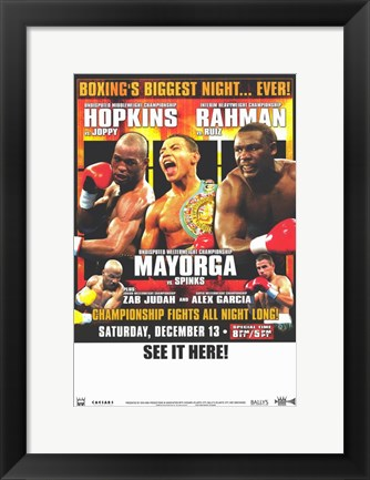 Framed Bernard Hopkins vs William Joppy Print