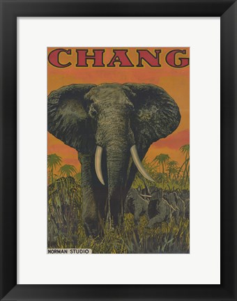 Framed Chang: A Drama of the Wilderness Print
