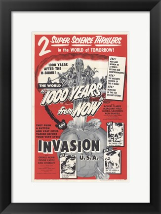 Framed Invasion USA Print