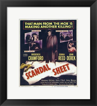 Framed Scandal Sheet Print