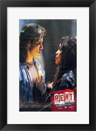 Framed Rent Light My Candle Print