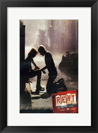 Framed Rent No Day But Today Print