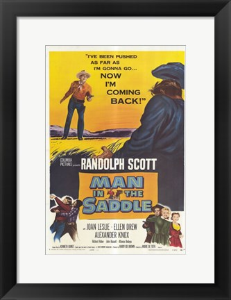 Framed Man in the Saddle Print